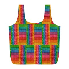 Texture Surface Rainbow Festive Full Print Recycle Bags (l)