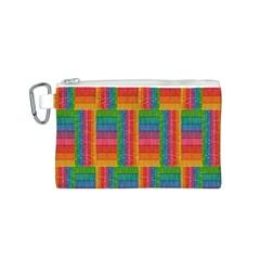 Texture Surface Rainbow Festive Canvas Cosmetic Bag (s)