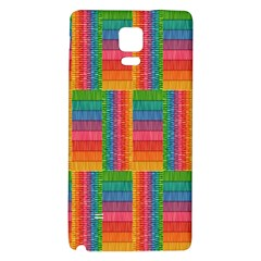 Texture Surface Rainbow Festive Galaxy Note 4 Back Case