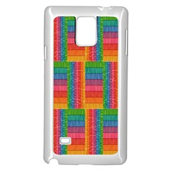 Texture Surface Rainbow Festive Samsung Galaxy Note 4 Case (white)