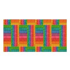 Texture Surface Rainbow Festive Satin Shawl