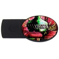 Three Earthen Vases USB Flash Drive Oval (2 GB)