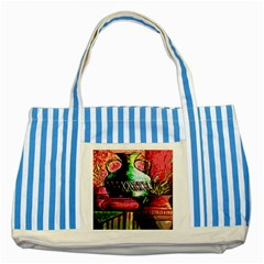 Three Earthen Vases Striped Blue Tote Bag