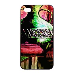 Three Earthen Vases Apple Iphone 4/4s Seamless Case (black)