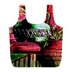 Three Earthen Vases Full Print Recycle Bags (l)