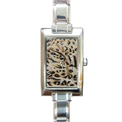 Tiger Animal Fabric Patterns Rectangle Italian Charm Watch