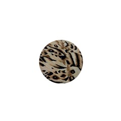 Tiger Animal Fabric Patterns 1  Mini Buttons