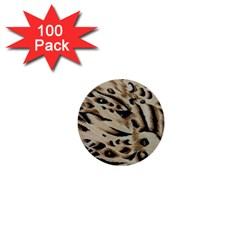Tiger Animal Fabric Patterns 1  Mini Buttons (100 pack)