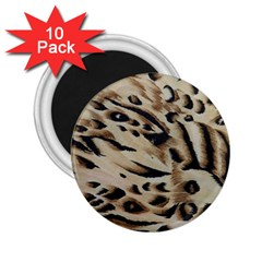 Tiger Animal Fabric Patterns 2.25  Magnets (10 pack)