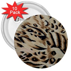 Tiger Animal Fabric Patterns 3  Buttons (10 pack)