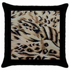 Tiger Animal Fabric Patterns Throw Pillow Case (Black)