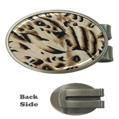 Tiger Animal Fabric Patterns Money Clips (Oval)