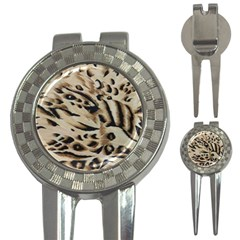 Tiger Animal Fabric Patterns 3 In 1 Golf Divots