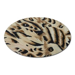 Tiger Animal Fabric Patterns Oval Magnet