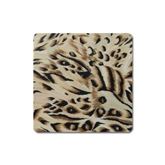 Tiger Animal Fabric Patterns Square Magnet