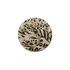Tiger Animal Fabric Patterns Golf Ball Marker (10 Pack)