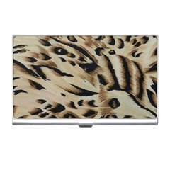 Tiger Animal Fabric Patterns Business Card Holders