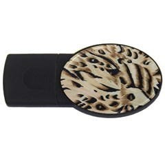 Tiger Animal Fabric Patterns USB Flash Drive Oval (1 GB)