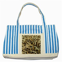 Tiger Animal Fabric Patterns Striped Blue Tote Bag