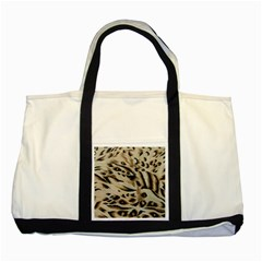 Tiger Animal Fabric Patterns Two Tone Tote Bag