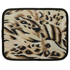 Tiger Animal Fabric Patterns Netbook Case (Large)