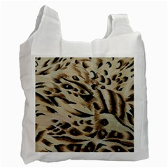 Tiger Animal Fabric Patterns Recycle Bag (Two Side)