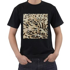 Tiger Animal Fabric Patterns Men s T-Shirt (Black)