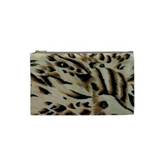 Tiger Animal Fabric Patterns Cosmetic Bag (Small)