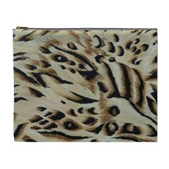 Tiger Animal Fabric Patterns Cosmetic Bag (xl)