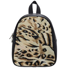 Tiger Animal Fabric Patterns School Bags (small)
