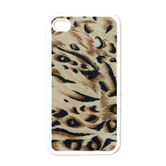 Tiger Animal Fabric Patterns Apple iPhone 4 Case (White)