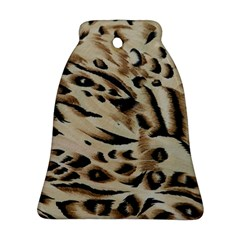 Tiger Animal Fabric Patterns Bell Ornament (Two Sides)
