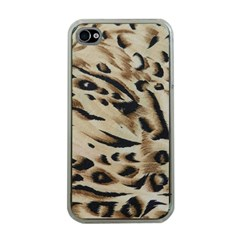 Tiger Animal Fabric Patterns Apple iPhone 4 Case (Clear)