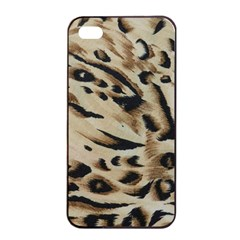 Tiger Animal Fabric Patterns Apple iPhone 4/4s Seamless Case (Black)