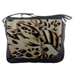 Tiger Animal Fabric Patterns Messenger Bags