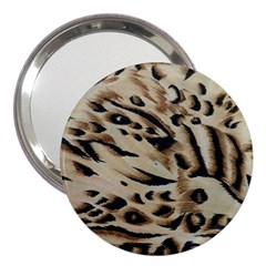Tiger Animal Fabric Patterns 3  Handbag Mirrors