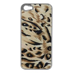 Tiger Animal Fabric Patterns Apple Iphone 5 Case (silver)