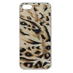 Tiger Animal Fabric Patterns Apple Seamless Iphone 5 Case (clear)
