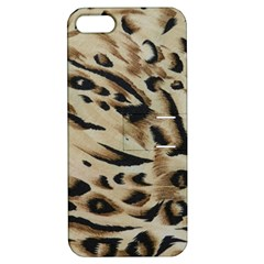 Tiger Animal Fabric Patterns Apple iPhone 5 Hardshell Case with Stand