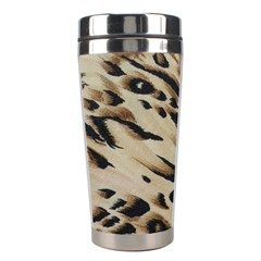 Tiger Animal Fabric Patterns Stainless Steel Travel Tumblers