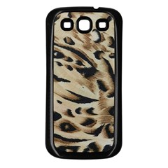Tiger Animal Fabric Patterns Samsung Galaxy S3 Back Case (black)