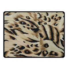 Tiger Animal Fabric Patterns Double Sided Fleece Blanket (Small)