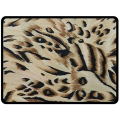 Tiger Animal Fabric Patterns Double Sided Fleece Blanket (large)