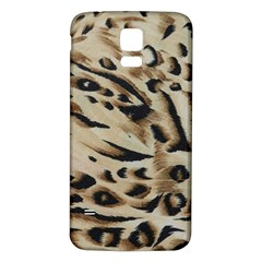 Tiger Animal Fabric Patterns Samsung Galaxy S5 Back Case (white)