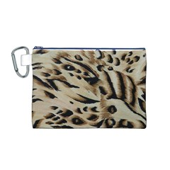 Tiger Animal Fabric Patterns Canvas Cosmetic Bag (m)