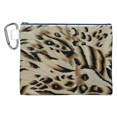 Tiger Animal Fabric Patterns Canvas Cosmetic Bag (xxl)