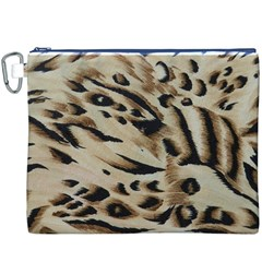 Tiger Animal Fabric Patterns Canvas Cosmetic Bag (XXXL)