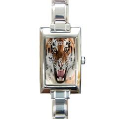Tiger  Rectangle Italian Charm Watch