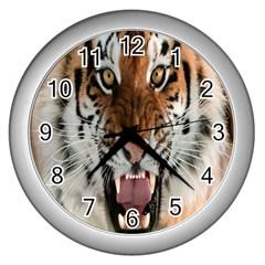 Tiger  Wall Clocks (Silver)