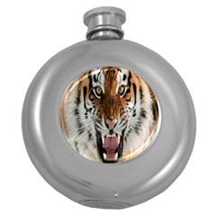 Tiger  Round Hip Flask (5 oz)